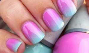 Ногти переход цвета